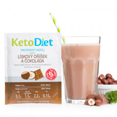 Hazelnut and Chocolate Flavour Protein Drink (7 portions)