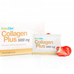 KetoDiet Collagen Plus 5,000mg - strawberry flavour