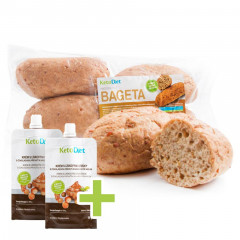 Protein Baguette (4 portions) + 2x Hazelnut Cream FOR FREE