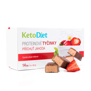 Strawberry Flavour Protein Bars (14 pieces - 7 portions)