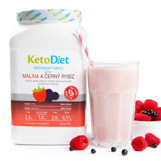 Raspberry and Black-currant Flavour Protein Drink for 1 week (35 portions)