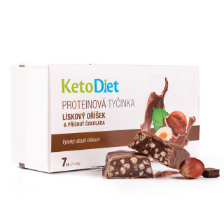 Protein bars with hazelnuts and chocolate flavour (7 pcs – 7 portions)