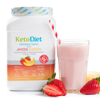 Strawberry and Banana Flavour Protein Drink for 1 week (35 portions)