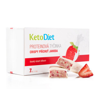Crispy protein bars with strawberry flavour (7 pcs – 7 portions)
