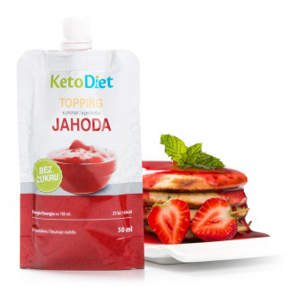 Topping with strawberry flavour (50 ml - 10 portions)