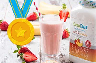 Your most favourite KetoDiet product. Strawberry and Banana Protein drink