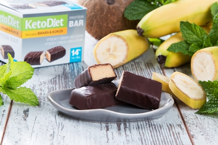Coconut and Banana Flavour Protein Bars