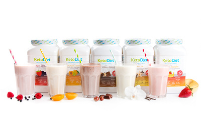 KetoDiet protein drinks with raspberry-black currant, apricot-mango, hazelnut-chocolate, vanilla or strawberry-banana flavours will help you with fast and effective weight loss.